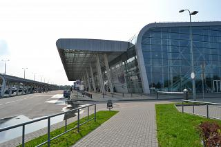 The passenger terminal of the airport Lviv Danylo Galitsky