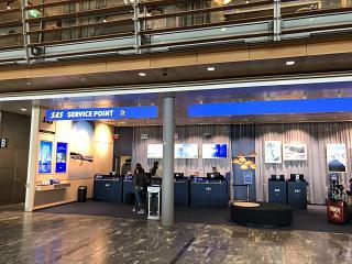 Стойка информации авиакомпании SAS аэропорта Осло Гардермуэн