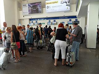 Зона регистрации международных рейсов в аэропорту Ростов-на-Дону