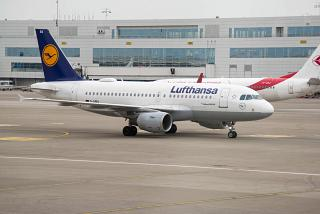 Airbus A319 D-AIBA Lufthansa at the airport in Brussels