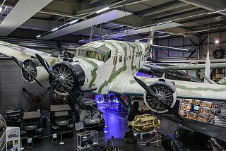 Plane Junkers Ju 52 in the Museum of technology in Sinsheim