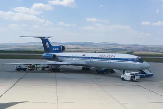Tu-154 of Belavia airlines at Burgas airport