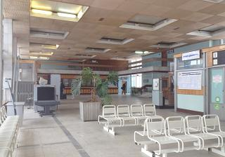 In the terminal building of the airport Vologda