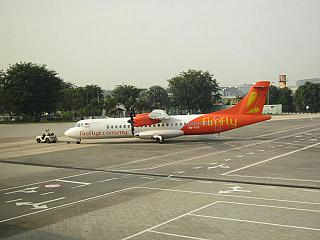 The plane ATR of 72 airlines Firefly in SUBANG airport Sultan Abdul Aziz Shah