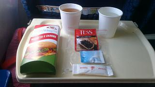 Food on the flight Saratov-Simferopol with Saratov airlines
