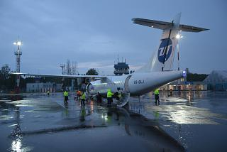 The ATR-72 VQ-BLJ of the airline Utair at the airport Kaluga Grabtsevo