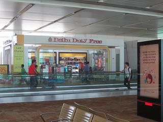 The Duty Free store at Delhi airport Indira Gandhi