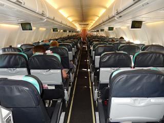 The cabin of the aircraft Boeing-737-800 Turkish airlines