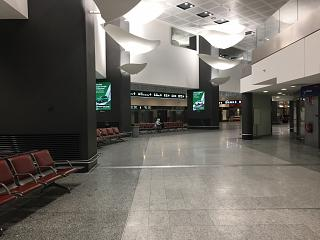 In the terminal 1 of the airport Malpensa