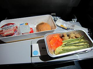 Breakfast on flight Singapore-Frankfurt Lufthansa