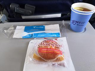 Flight meals on the flight Ekaterinburg-Omsk airlines NordStar
