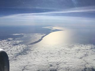 The North sea off the coast of Denmark