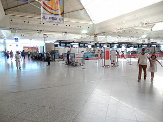 Check-in at the Istanbul Ataturk airport