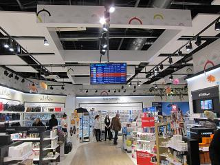 Store in a clean area of the domestic departures of the airport Pashkovskiy Krasnodar