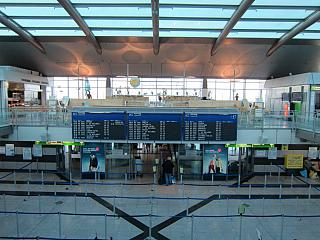 In the terminal building of the airport Dortmund