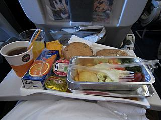 Food on flight Kyiv-Frankfurt Lufthansa