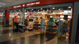 The Duty Free store in terminal 2 of Belgrade airport Nikola Tesla