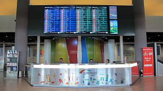 Информационная стойка лоукост-терминала KLIA2 аэропорта Куала-Лумпур