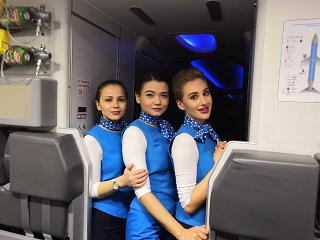 "Stewardesses of the airline ""Victory"""