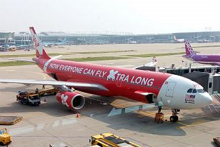 The Airbus A330-300 AirAsia X at the airport Seoul Incheon