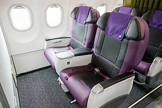 Business class in the Airbus A321neo of S7 Airlines