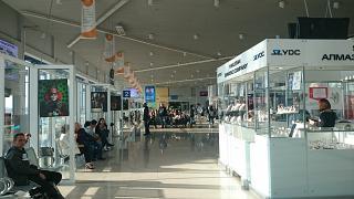 В чистой зоне аэропорта Якутск