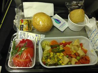 Бортпитание на рейсе Самара-Бангкок авиакомпании ЮТэйр