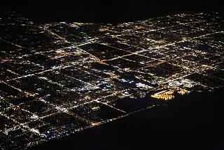 Ночной вид на город Форт-Лодердейл, штат Флорида