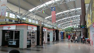 In the passenger terminal of the airport of Langkawi