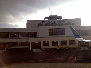 The terminal of the airport Poprad Tatry