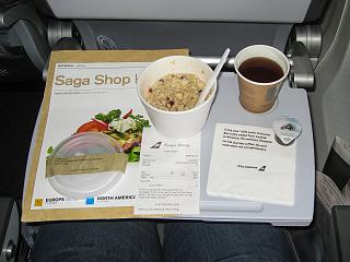 Pay food (oatmeal) on the airline Icelandair