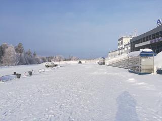 Station square airport Bratsk