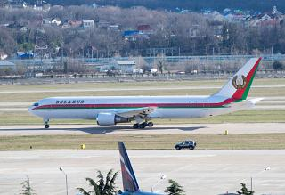 Boeing-767-300 of the President of the Republic of Belarus in Sochi airport