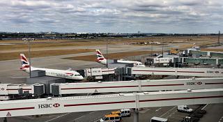 Перрон аэропорта Лондон Хитроу