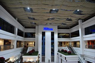 The entrance to the Hilton at terminal T1 of the airport of Mexico city Benito Juarez