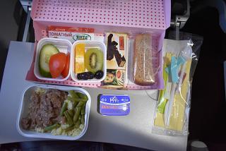 Питание на рейсе Иркутск-Гонконг авиакомпании S7 Airlines