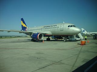 Airbus A319 Донавиа в аэропорту Минеральные Воды