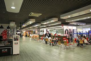 Cafes in the departures area at the airport of Funchal on Madeira island