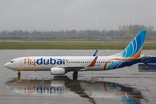 Boeing-737-800 airlines, Flydubai at the airport in Bucharest