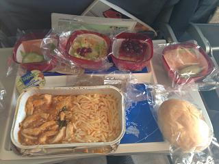 Питание на рейсе Москва-Родос авиакомпании Трансаэро