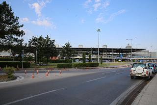 The passenger terminal of the airport of Thessaloniki Macedonia