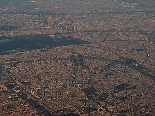 Photo of Paris from the airplane