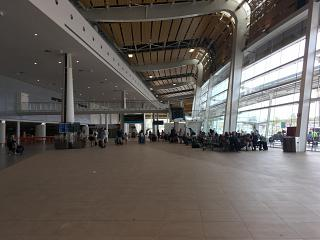 In the passenger terminal at Faro airport