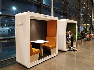 Boxes to stay in terminal 5 of Stockholm Arlanda