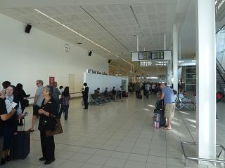 International arrivals hall at the airport Adelaide