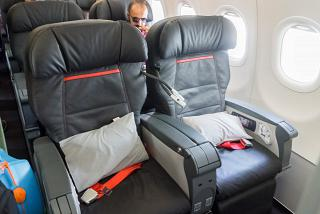 Business class in the Airbus A321 Turkish airlines