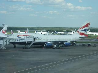 Боинг-747-400 Британских авиалиний в аэропорту Домодедово