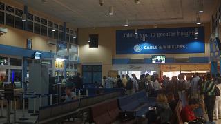 Выход на посадку в Международном аэропорту Сейшельских островов