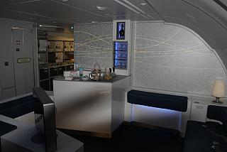 Lounge for passengers in Business and First class in the Airbus A380 Korean Air