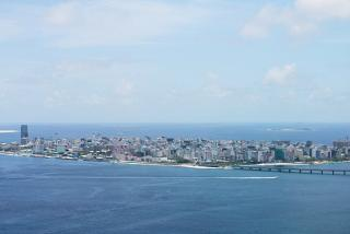 Male view when landing at Velana airport
